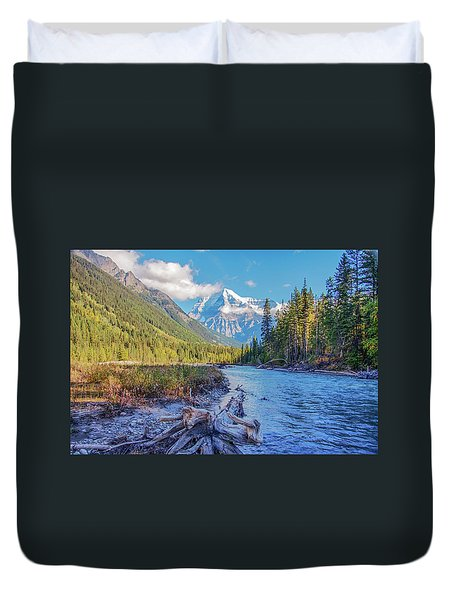 Duvet Cover featuring the photograph Mt. Robson 2009 02 by Jim Dollar