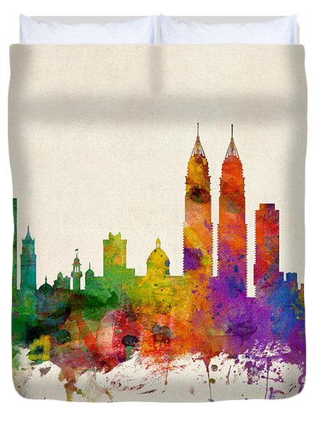 Mumbai Skyline India Bombay Duvet Cover