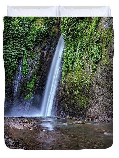 Munduk Waterfall - Bali Duvet Cover