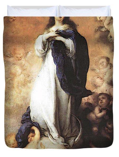 Murillo Immaculate Conception  Duvet Cover by Bartolome Esteban Murillo