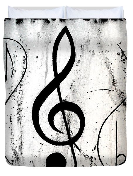 Music In Motion Duvet Cover