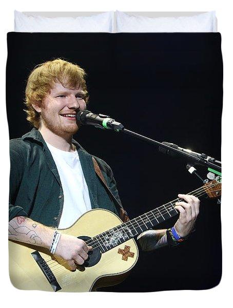 Musician Ed Sheeran Duvet Cover