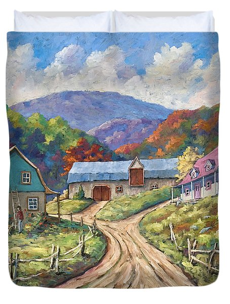 My Country My Village Duvet Cover