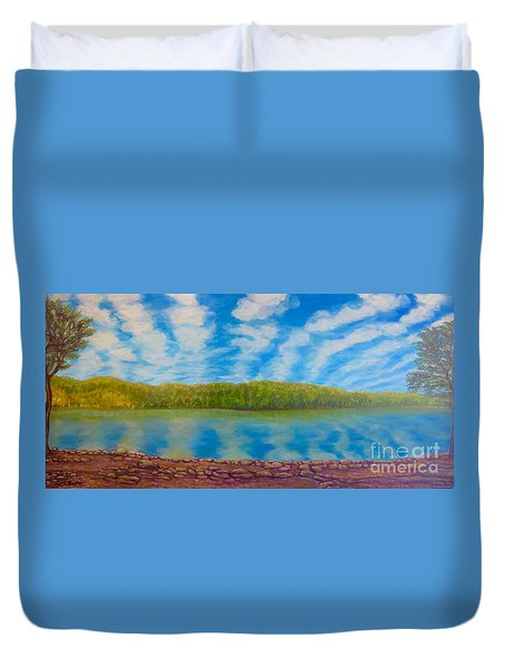 My Serenity Lies In A Place Between Heaven And Earth Duvet Cover