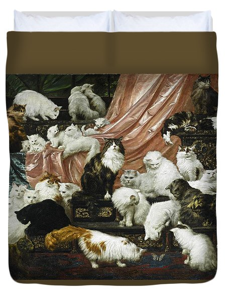My Wife's Lovers Duvet Cover by Carl Kahler