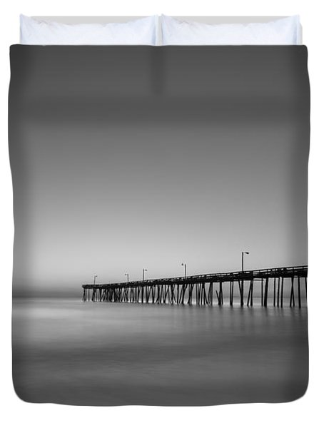 Nags Head Fishing Pier Sunrise Duvet Cover