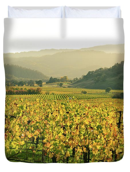 Napa Valley In Autumn Duvet Cover