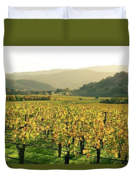 Napa Valley In Autumn Duvet Cover
