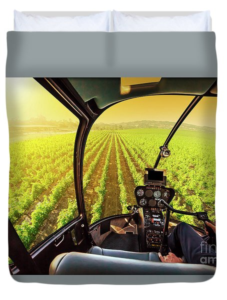 Napa Valley Scenic Flight Duvet Cover