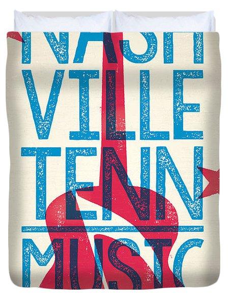 Nashville Poster - Tennessee Duvet Cover