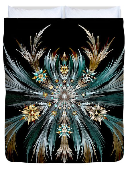 Native Feathers Duvet Cover