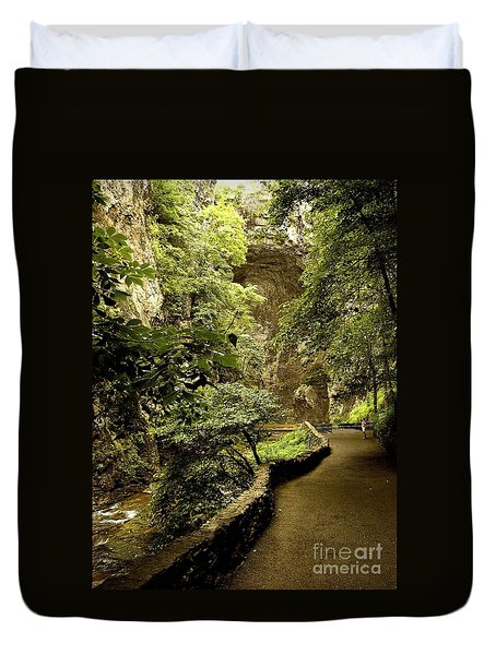 Duvet Cover featuring the photograph Natural Bridge  by Raymond Earley