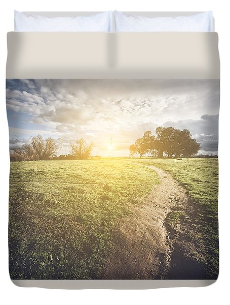 Nature Background With Vintage Style Filter Duvet Cover by Brandon Bourdages