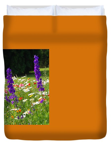 Ncdot Planting Duvet Cover by Kathryn Meyer