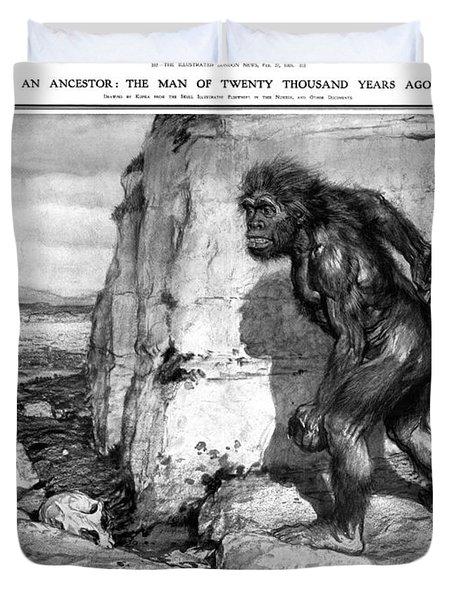Neanderthal Man Duvet Cover