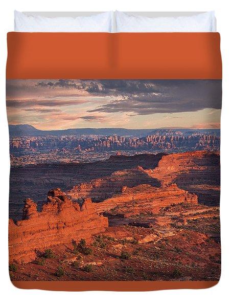 Needles Sunset From White Crack Duvet Cover
