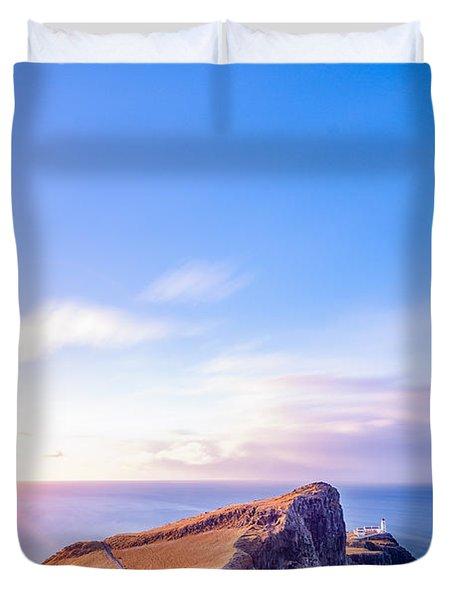 Neist Point Lighthouse At Dawn Duvet Cover