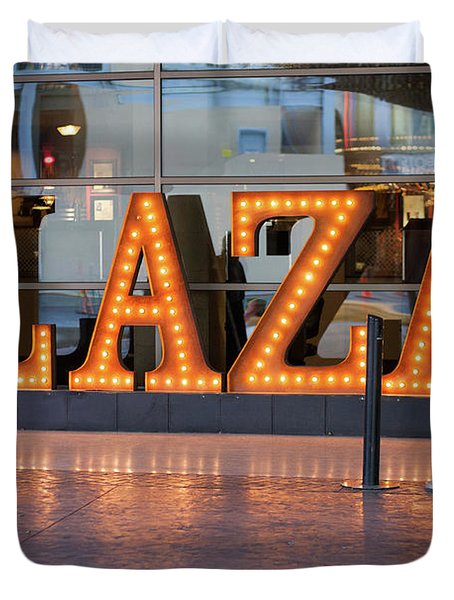 Neon Plaza Duvet Cover