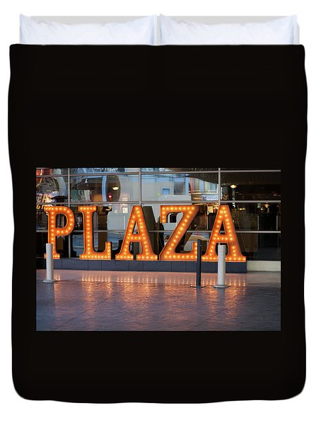 Neon Plaza Duvet Cover