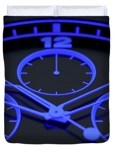 Neon Watch Face Duvet Cover