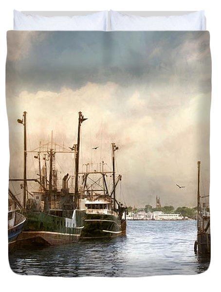 New Bedford Harbor Duvet Cover
