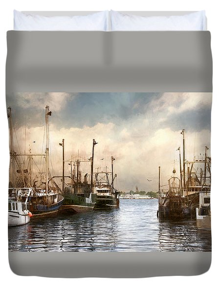 New Bedford Harbor Duvet Cover