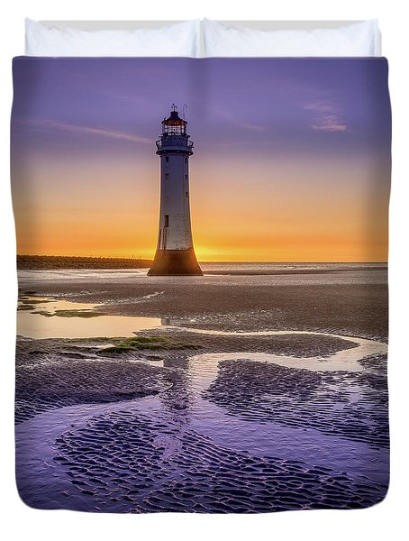 New Brighton Lighthouse Duvet Cover