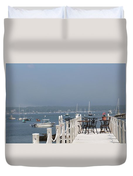 New Castle Harbor Nh Duvet Cover