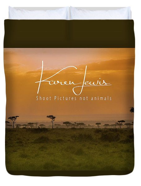 Duvet Cover featuring the photograph New Day On The Mara by Karen Lewis