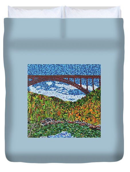 New River Gorge Duvet Cover by Micah Mullen
