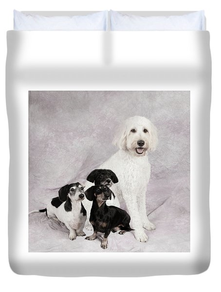 Fur Friends Duvet Cover by Erika Weber