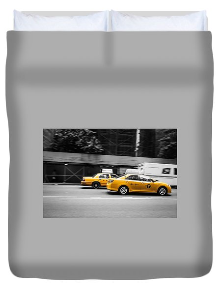 New York Cab Duvet Cover