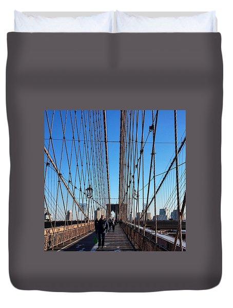 New York City - Brooklyn Bridge Duvet Cover