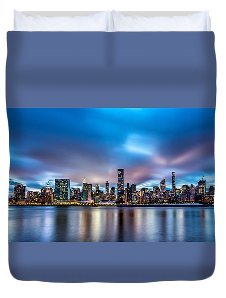 New York City Skyline Duvet Cover