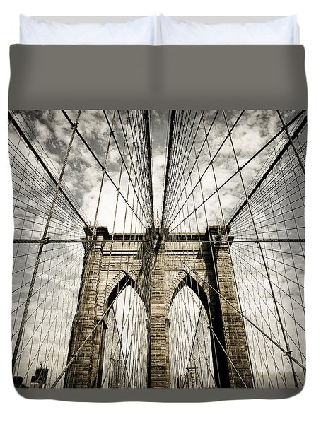 Duvet Cover featuring the photograph New York by Juergen Held