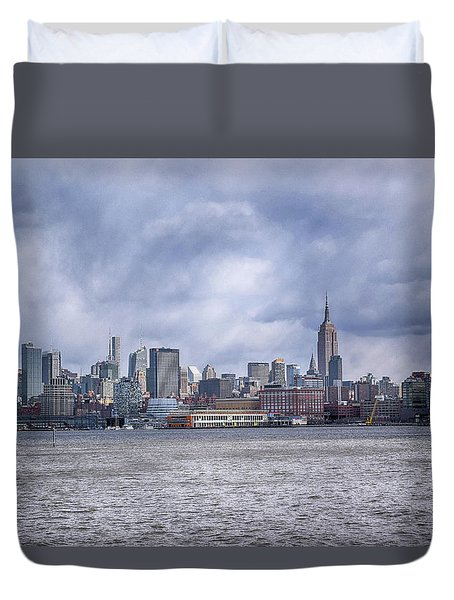 New York Skyline Duvet Cover