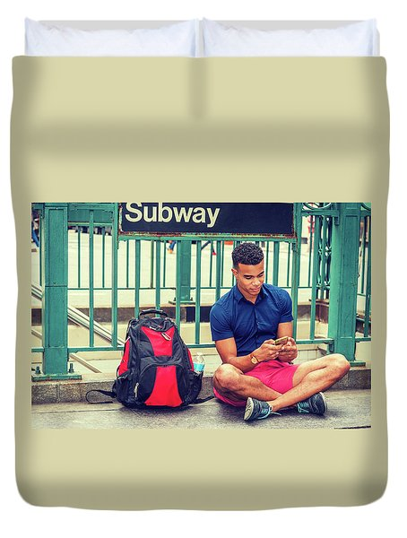 New York Subway Station Duvet Cover