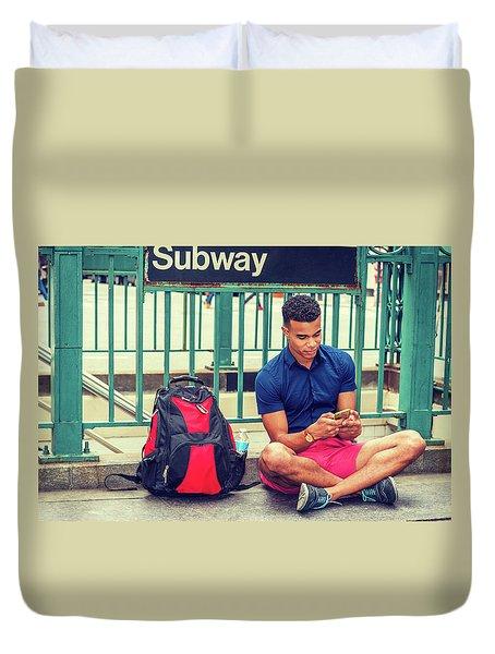 New York Subway Station Duvet Cover