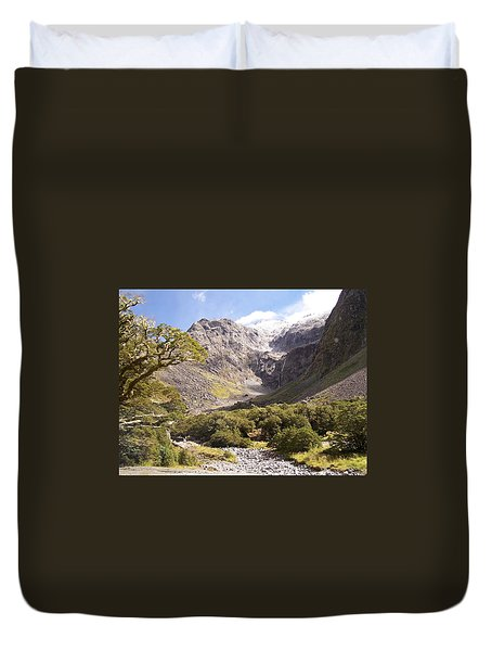 New Zealand Landscape Duvet Cover