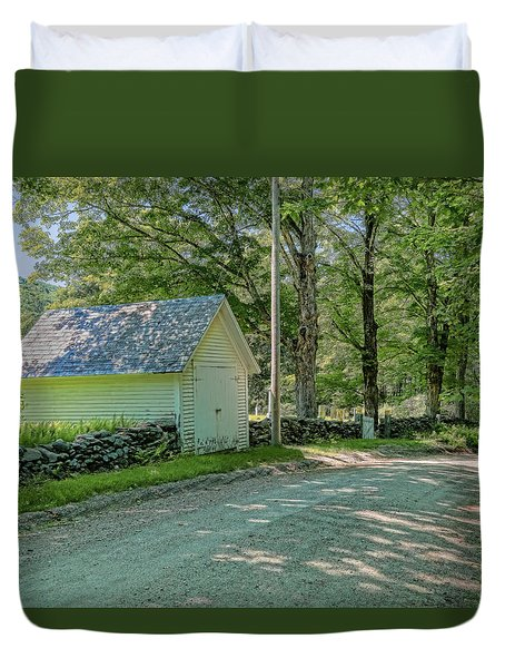 Duvet Cover featuring the photograph Newfane Cemetery by Tom Singleton