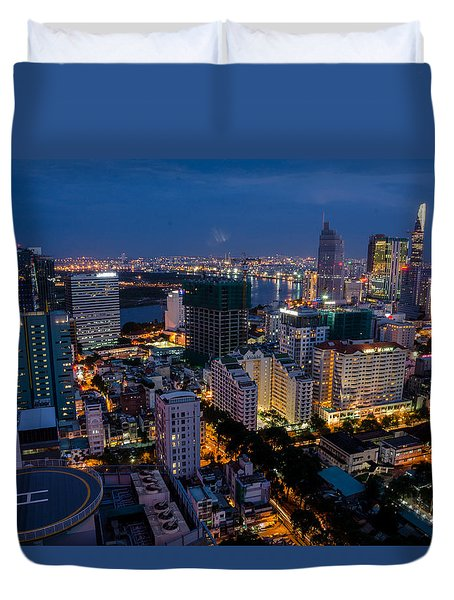 Night Ho Chi Minh City Duvet Cover