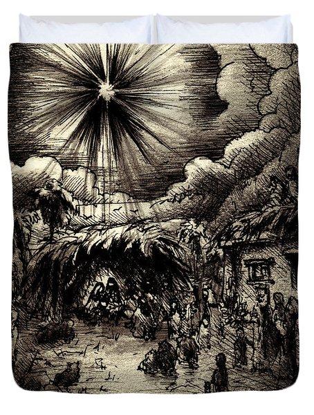 Night In Bethlehem Duvet Cover by Rachel Christine Nowicki