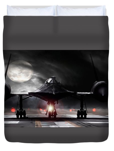 Night Moves Duvet Cover by Peter Chilelli