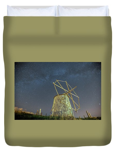 Duvet Cover featuring the photograph Night Sky  by Bruno Rosa