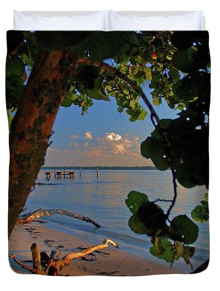 Duvet Cover featuring the photograph 1- North Palm Beach by Joseph Keane