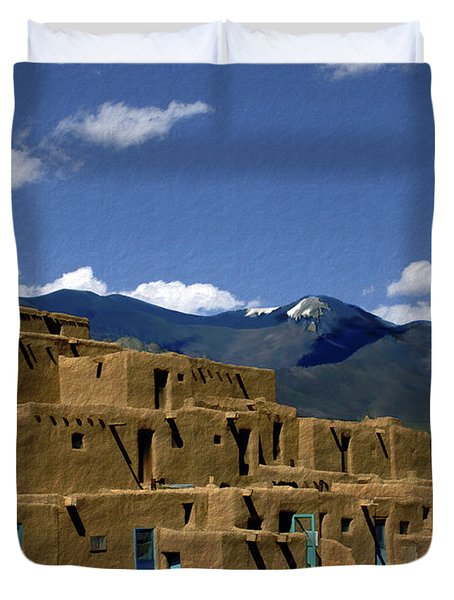 North Pueblo Taos Duvet Cover