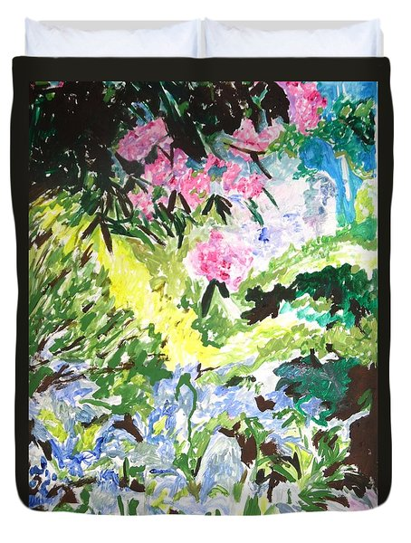 Duvet Cover featuring the painting Northern Glen by Esther Newman-Cohen