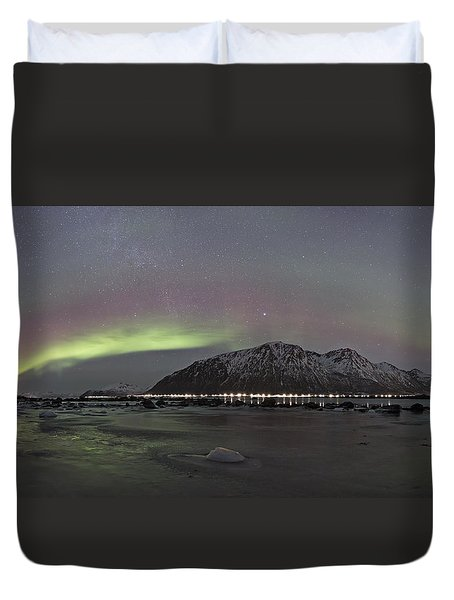 Northern Lights Panoramic Duvet Cover