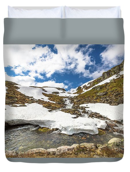 Norway Mountain Landscape Duvet Cover