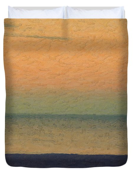 Not Quite Rothko - Breezy Twilight Duvet Cover by Serge Averbukh